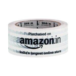 Stickum Amazon Branded White Packaging Tape 2 inch (48 mm)